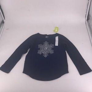 NWT Crazy 8 Girls Size 5-6 Long Sleeved Shirt